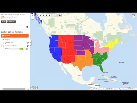How To Create A Customized Territory Color Coded Map