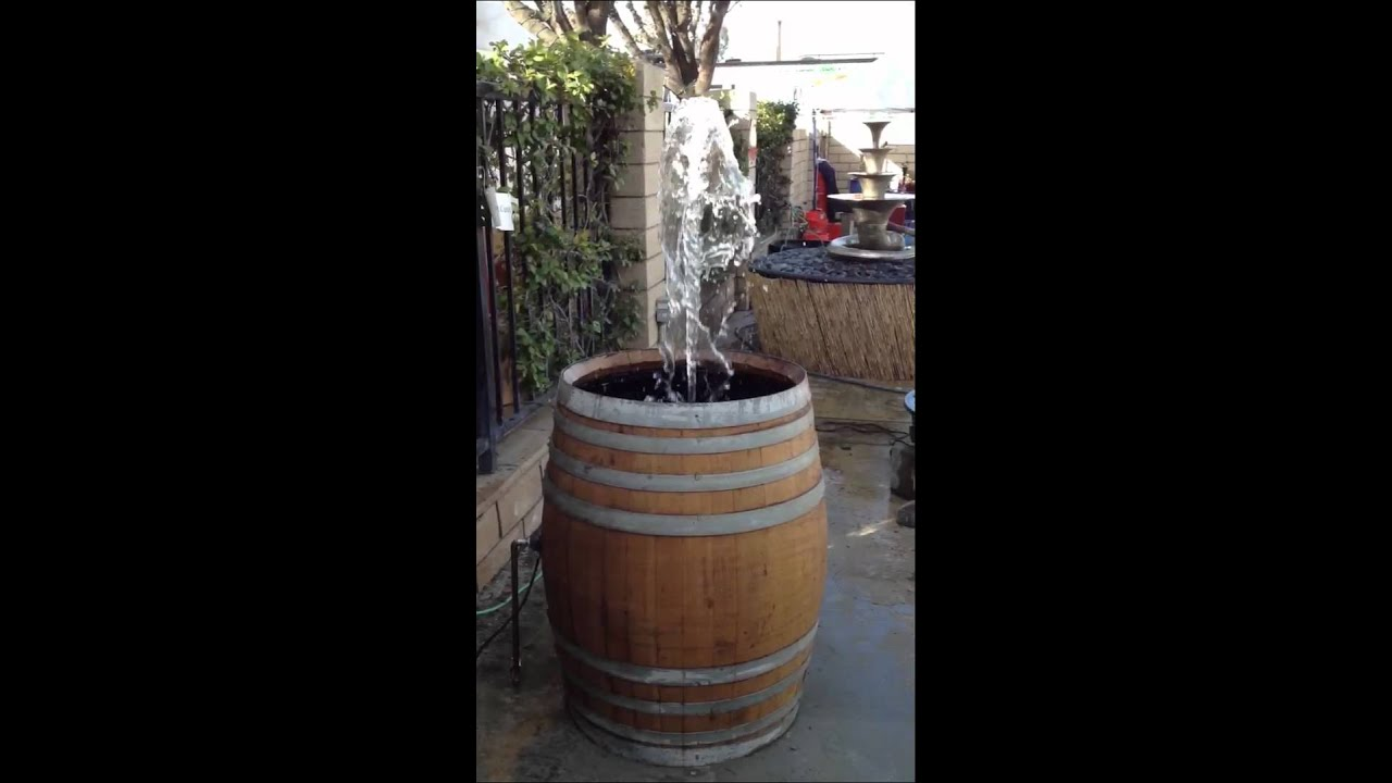 Wine Barrel Fountain 2 Youtube