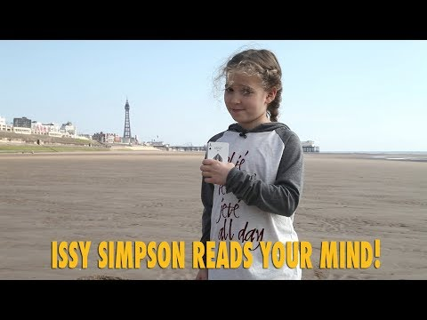 Issy performs the World's Biggest Card Trick and reads your mind too!