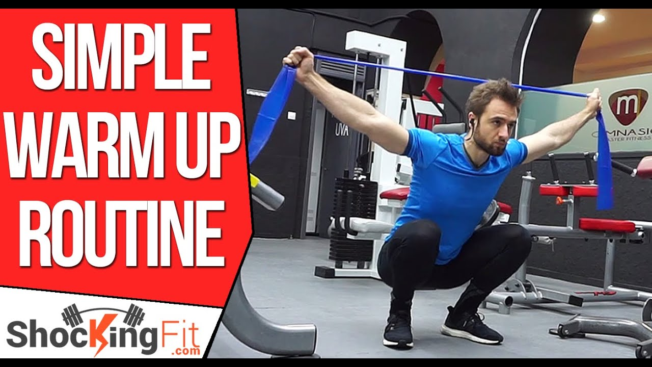 How to warm up before a gym workout simple minute