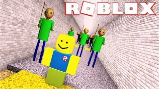 ESCAPE FROM BALDI.... By going through an Obby? | The Weird Side of Roblox