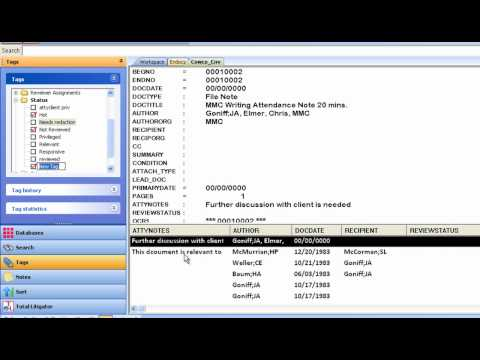 LexisNexis® Concordance® A 5 Minute Overview