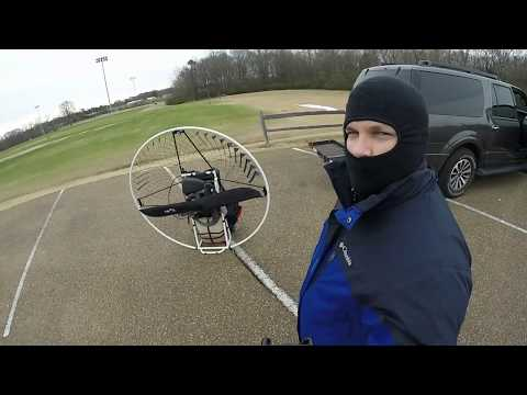Flying to a Private Lake by Paramotor on Christmas