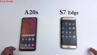 SAMSUNG A20s vs S7 Edge   Speed Test Comparison