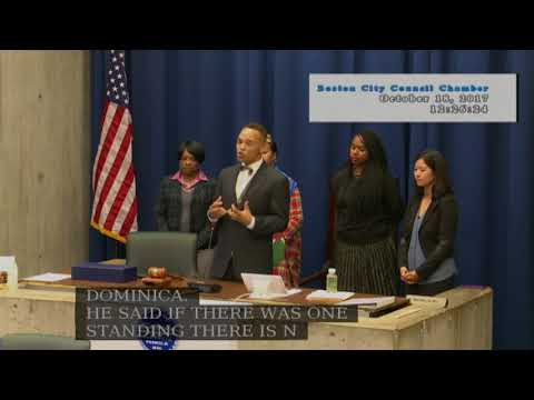 Boston City Council Meeting on October 18, 2017