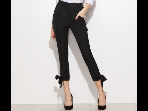 tie knot trouser stitching latest trousers design cutting and