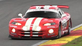 Chrysler/Dodge Viper GTS-R Sound - Accelerations & Fly Bys on Track!