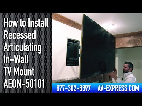 How To Install Recessed Articulating In Wall Tv Mount Aeon 50101