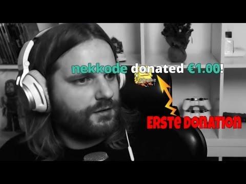 Gronkh bekommt seine ersten Donations im Livestream