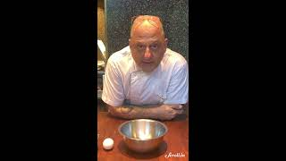 """How to remove broken eggshells from a bowl without getting your hands dirty"" by Chef Rahul Akerkar"