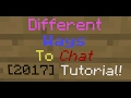How to chat in colors tutorial 2017 Minecraft Pocket Edition