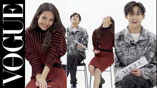 พี่ญ่ากับน้องแบม! เมื่อแบมแบมแนะนำญาญ่าให้เต้นท่านี้ตอนไปแฟชั่นวีก #VogueAsks