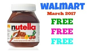 Nutella is FREE | Get Your FREEBIE ~ March 2017 | Walmart