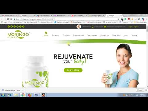 How to make online joining of a new distributor in Moringo Organics