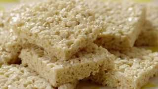 Snack Recipe - How To Make Marshmallow Crispy Bars