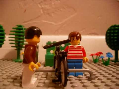 Lego Napoleon Dynamite The Bike Scene Youtube