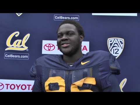 Cal Football: Jacobi Hunter - DT Post Practice (8/10/13)