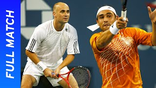Andre Agassi's final career victory! | vs Marcos Baghdatis | US Open 2006 Round Two