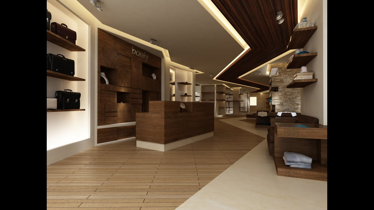 shop interior design - YouTube