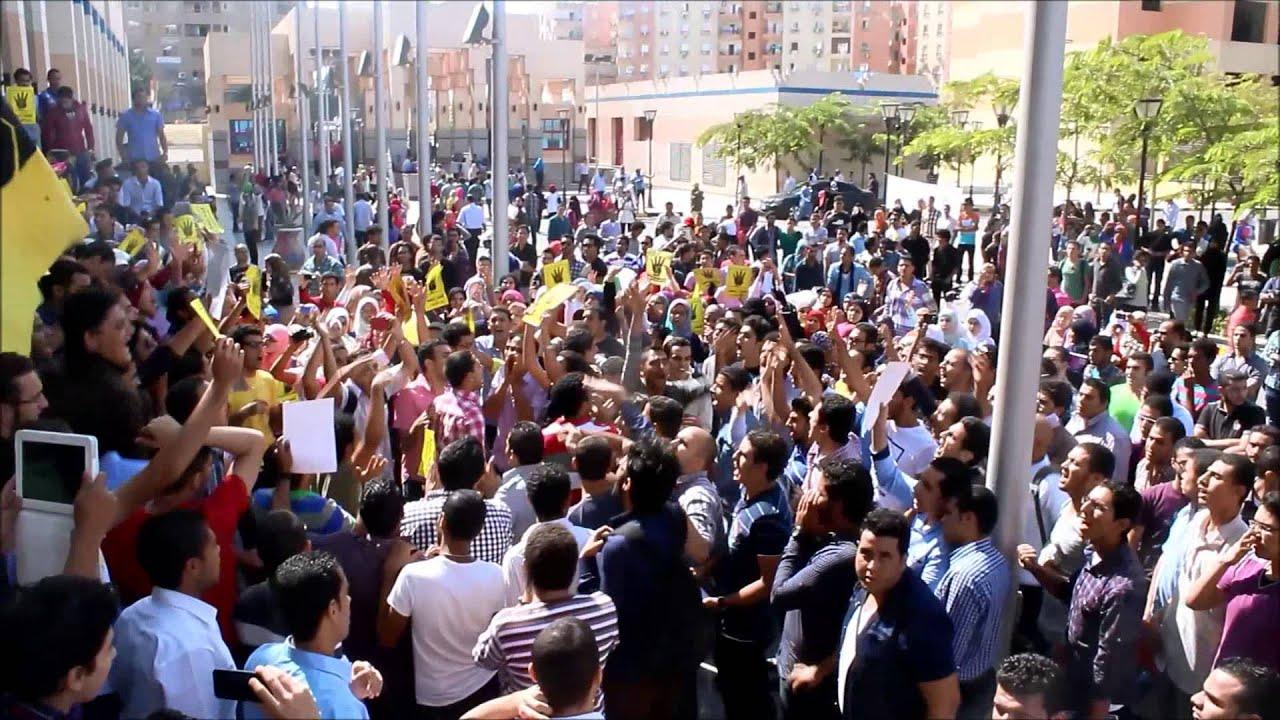 طلاب ضد الانقلاب - جامعة 6 اكتوبر - 7/10/2013