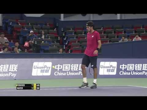 Roger Federer v. Leonardo Mayer   Shanghai 2014 R2 Highlights HD