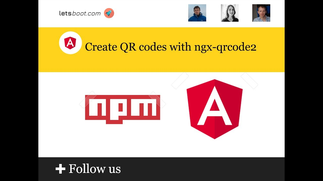 Create QR codes with ngx-qrcode2