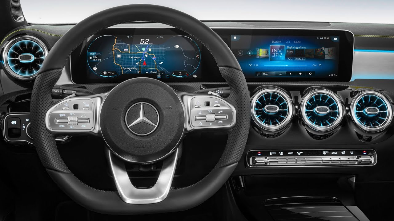 mercedes next gen cockpit 2018 mercedes a class inter doovi. Black Bedroom Furniture Sets. Home Design Ideas