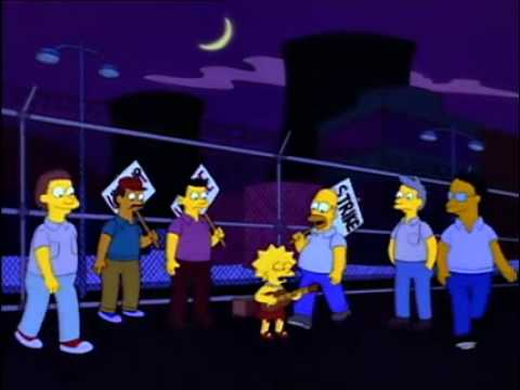 The Simpsons - Power Plant Strike