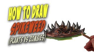 How To Draw Spikeweed from Plants vs Zombies – Mr. Cute Cartoon Drawing Club