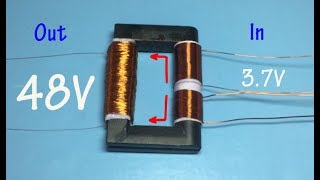 How to make a mini Inverter very easy , 3 7V to 48V inverter