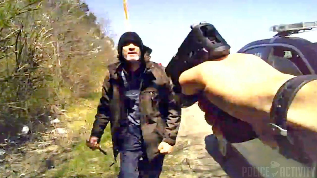 Policjant z USA kontra człowiek z nożem
