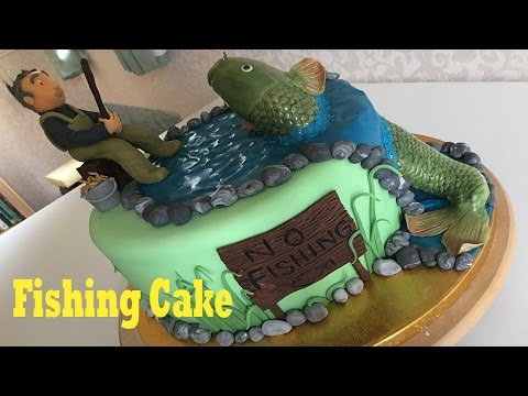 Fish / Fishing / Fisherman Birthday Cake