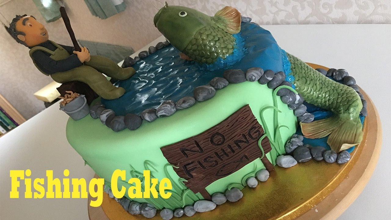 Fish Fishing Fisherman Birthday Cake