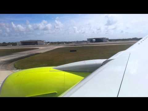 Jin air Boeing777-2B5/ER landing in guam