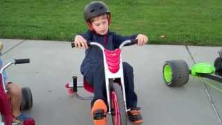 Pedal Bike Race (Razor Flash Rider 360, Huffy Green Machine, Radio Flyer Big Flyer)