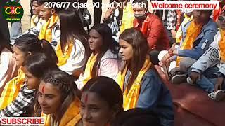 Parijat College Welcome Ceremony To Class XI 2077 Batch