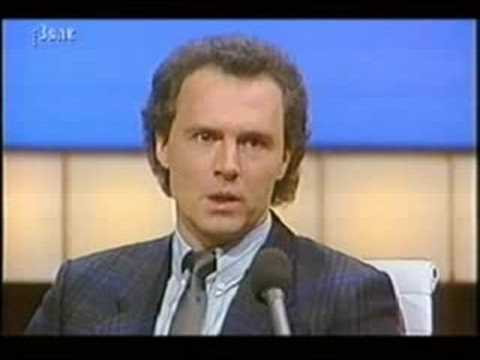 Franz Beckenbauer bei Wetten Dass??? 1984