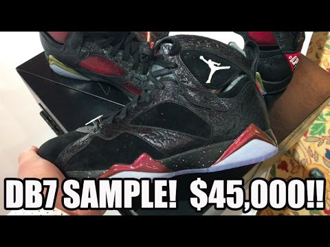 SOLD FOR $46,000 AIR JORDAN 7 DOERNBECHER ALTERNATE SAMPLE IN HAND!