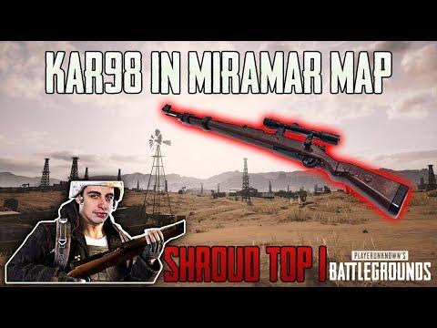 Kar98 IN NEW MIRAMAR MAP - SHROUD win SOLO game FPP [TEST SERVER