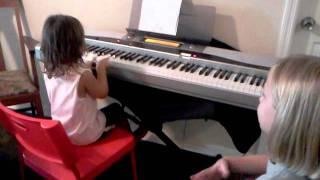 Video Mandi teaching Olivia to play Zaccheus on the Piano download MP3, 3GP, MP4, WEBM, AVI, FLV November 2017