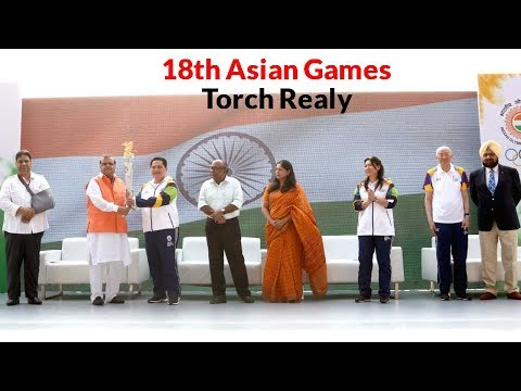 Asian Games Flame Ignited In OCA's 'Olympia'