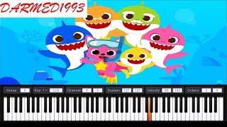 Baby shark piano tutorial   عزف بايبي شارك بالبيانو