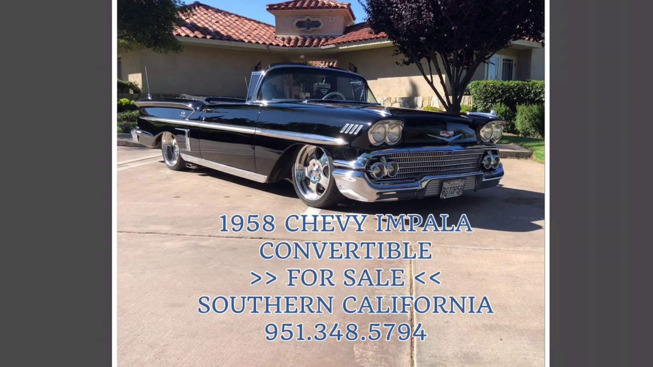 1958 Chevy Impala FOR SALE 951 348 5794