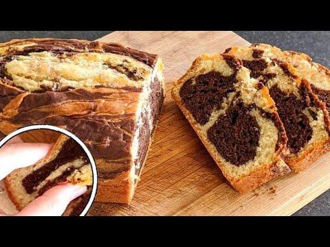 gâteau-marbré-extra-moelleux-/-recette-rapide-à-faire
