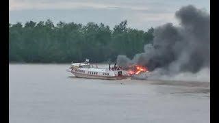 Express boat burns near Sibu terminal