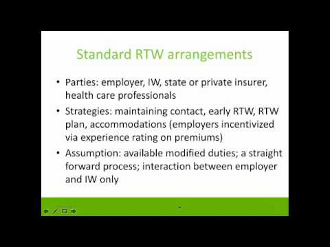 Workplace Managers: View of the role of Co-workers in RTW
