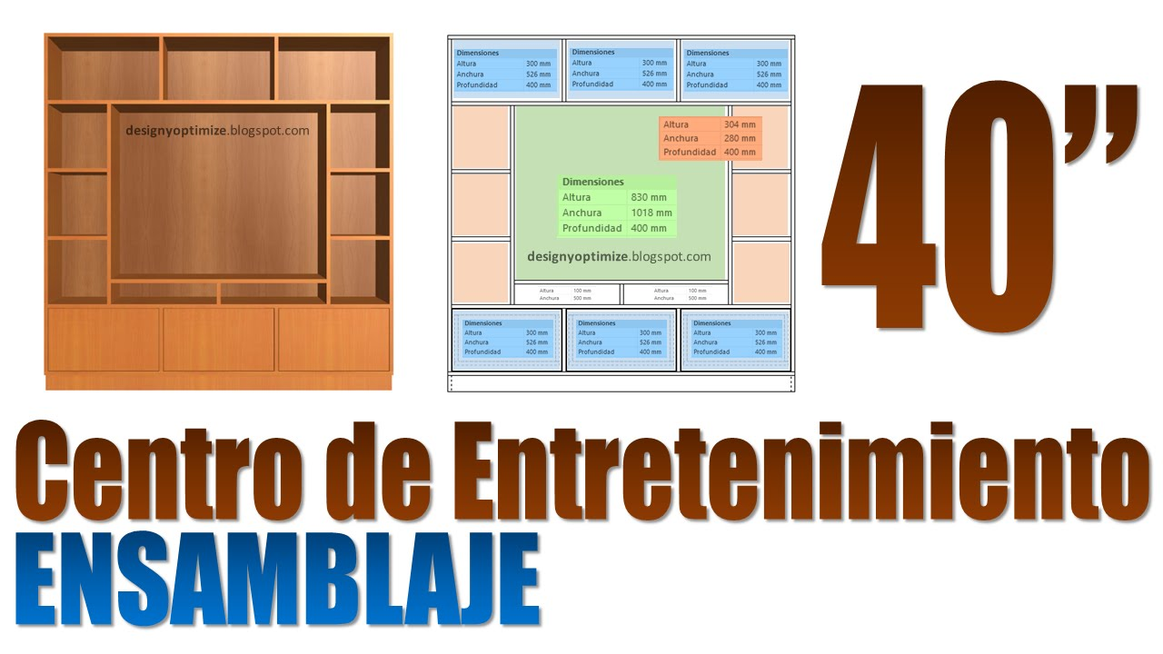 Mueble de Madera Para TV de 40 Pulgadas Centro ...