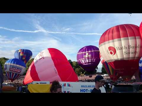 Hot Air Balloons Taking Off At The Bristol International Balloon Fiesta, 13 August 2016