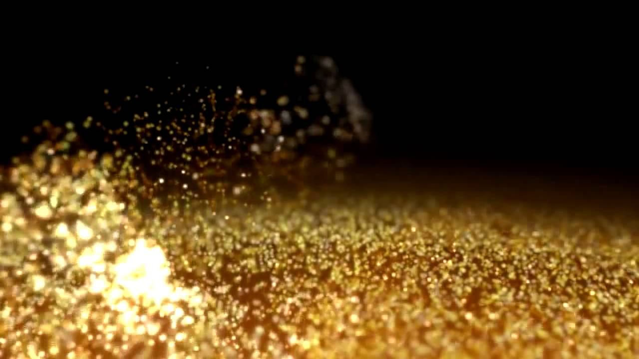 Gold Dust wind Particles hd Background