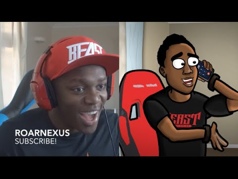 KSI Cartoon And Reality Hazard In A PACK AT ONCE